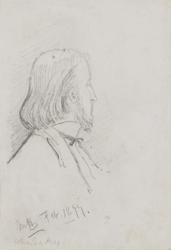 (William) Edward Hartpole Lecky, by Marian Collier (née Huxley), 1877 - NPG 3146 - © National Portrait Gallery, London