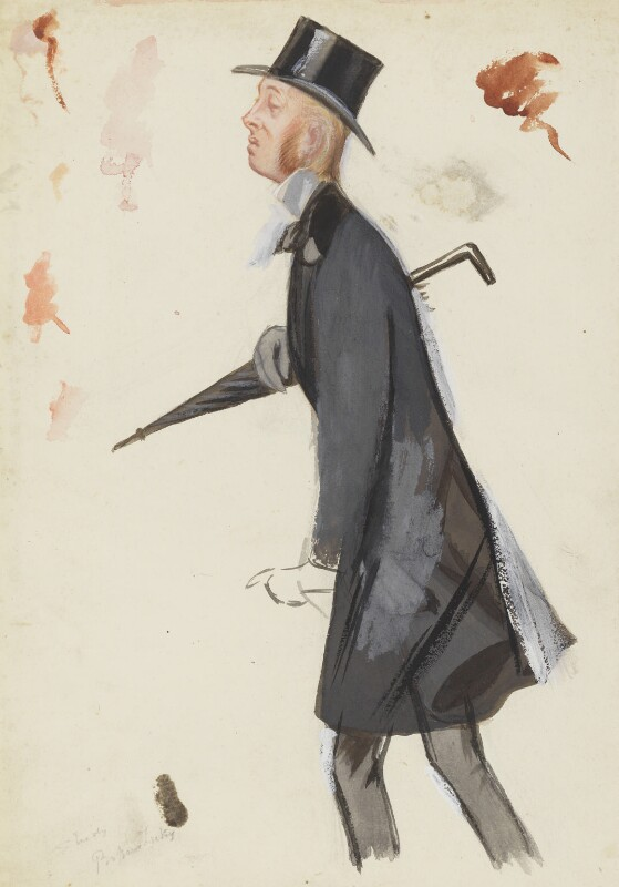 (William) Edward Hartpole Lecky, by Sir Leslie Ward, study in reverse pose for drawing published in Vanity Fair 27 May 1882 - NPG 5165 - © National Portrait Gallery, London