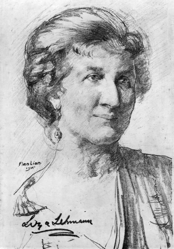 Elizabeth Nina Mary Frederica ('Liza') Lehmann (Mrs Bedford), by Flora Lion, 1915 - NPG 4118 - © National Portrait Gallery, London