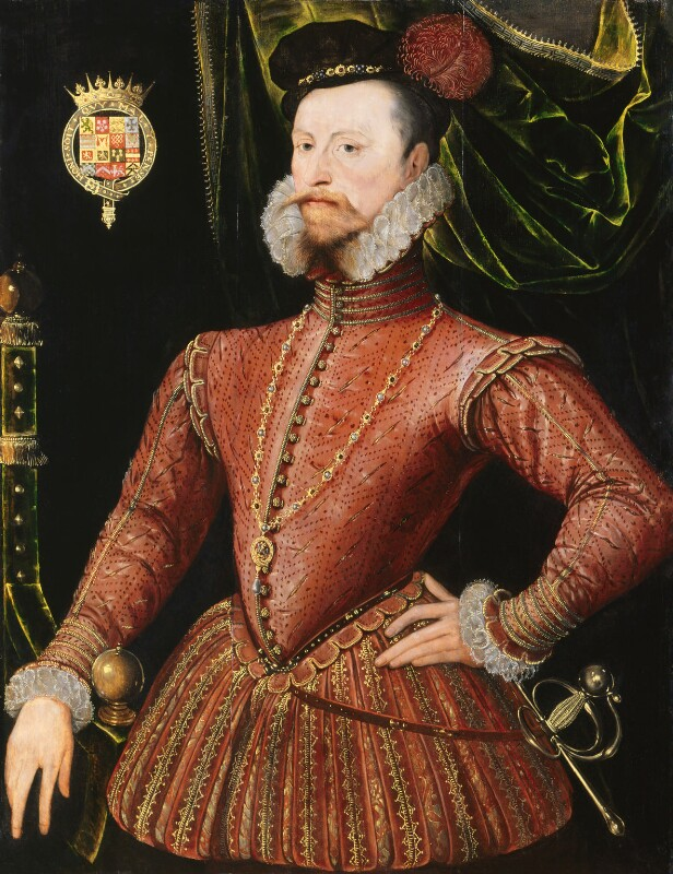Robert Dudley, 1st Earl of Leicester, by Unknown Anglo-Netherlandish artist, circa 1575 - NPG 447 - © National Portrait Gallery, London
