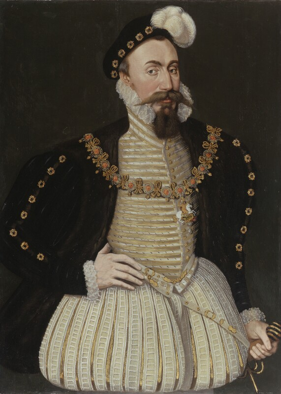 Robert Dudley, 1st Earl of Leicester, by Unknown English workshop, circa 1575 - NPG 247 - © National Portrait Gallery, London