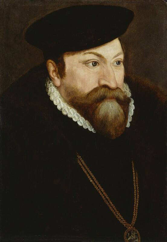 Edward Fiennes de Clinton, 1st Earl of Lincoln, by Unknown artist, circa 1560-1565 - NPG 2918 - © National Portrait Gallery, London
