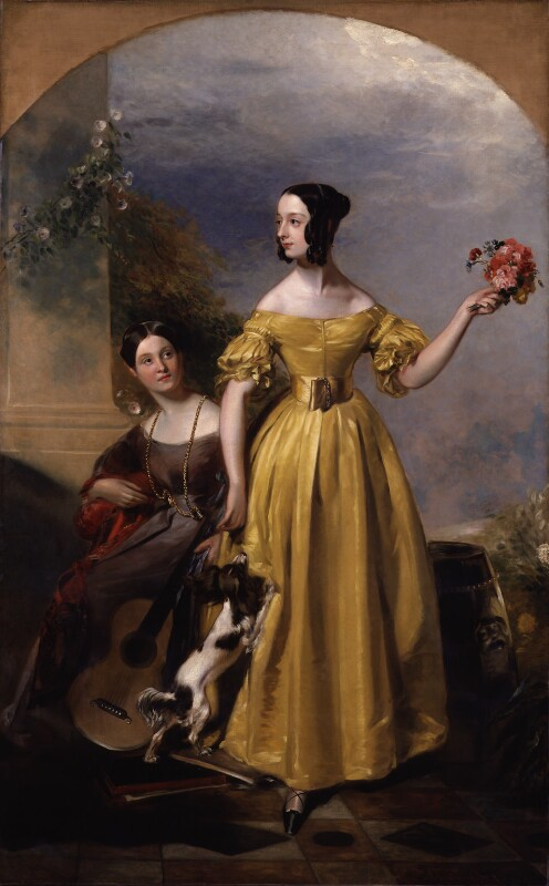 Alexina Nesbit Sandford (née Lindsay); Catherine Hepburne Lindsay, by Andrew Geddes, exhibited 1838 - NPG 3791 - © National Portrait Gallery, London