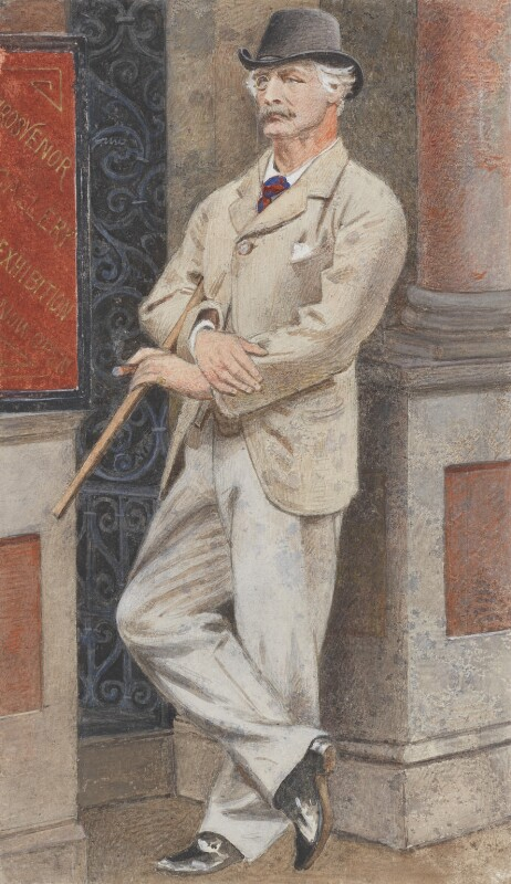 Sir Coutts Lindsay, 2nd Bt, by Joseph Middleton Jopling, circa 1882-1883 -NPG 2729 - © National Portrait Gallery, London