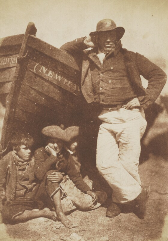 Sandy Linton, his boat and his bairns, by David Octavius Hill, and  Robert Adamson, 1843-1848 - NPG P6(199) - © National Portrait Gallery, London