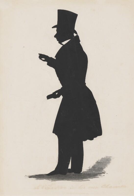 John Liston, by Augustin Edouart, based on a work of 1826 -NPG 3098 - © National Portrait Gallery, London