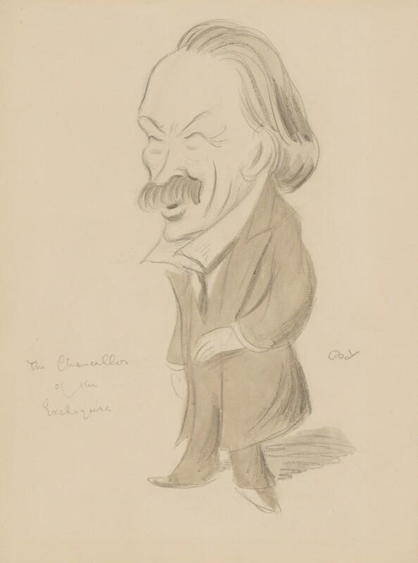 David Lloyd George, by Sir Max Beerbohm, circa 1908 - NPG 3252 - © estate of Max Beerbohm