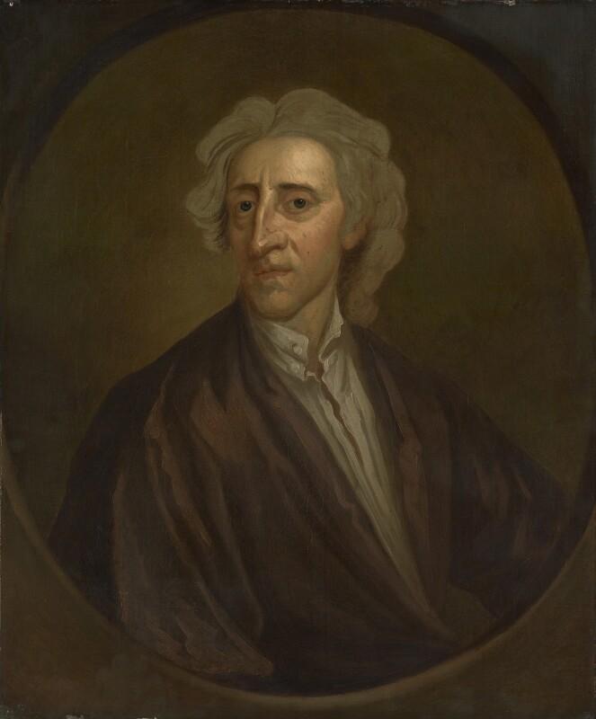 John Locke, after Sir Godfrey Kneller, Bt, based on a work of 1704 - NPG 550 - © National Portrait Gallery, London