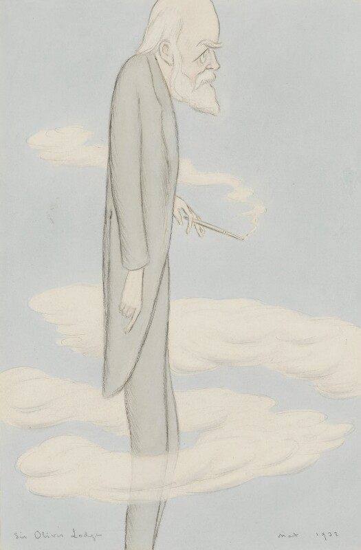 Sir Oliver Joseph Lodge, by Sir Max Beerbohm, 1932 - NPG 3856 - © estate of Max Beerbohm