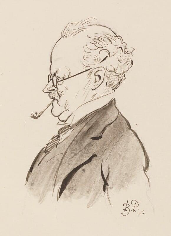 Sir Edwin Lutyens, by Bernard Partridge, study for drawing published in Punch 20 July 1927 - NPG 3672 - © National Portrait Gallery, London