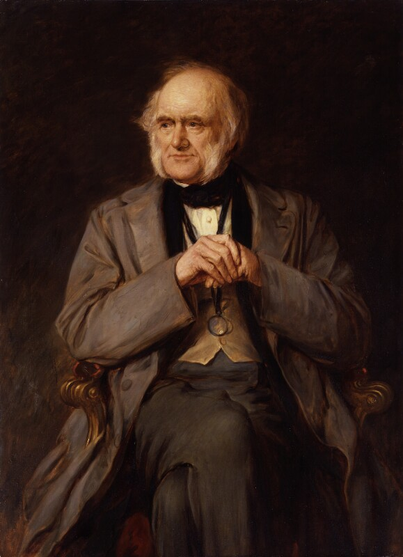 Sir Charles Lyell, 1st Bt, replica by Lowes Cato Dickinson, 1883, based on a work of circa 1870 - NPG 1387 - © National Portrait Gallery, London