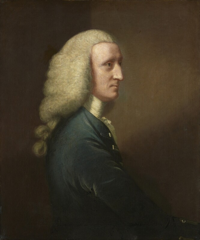 George Lyttelton, 1st Baron Lyttelton, by Unknown artist, circa 1756? - NPG 128 - © National Portrait Gallery, London