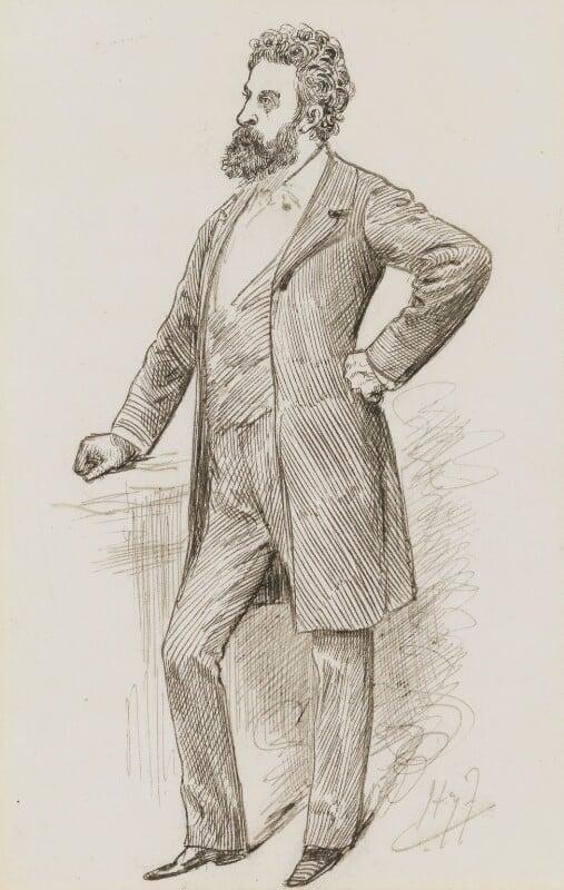 Edward Robert Bulwer-Lytton, 1st Earl of Lytton, by Harry Furniss, 1880s-1900s - NPG 3488 - © National Portrait Gallery, London