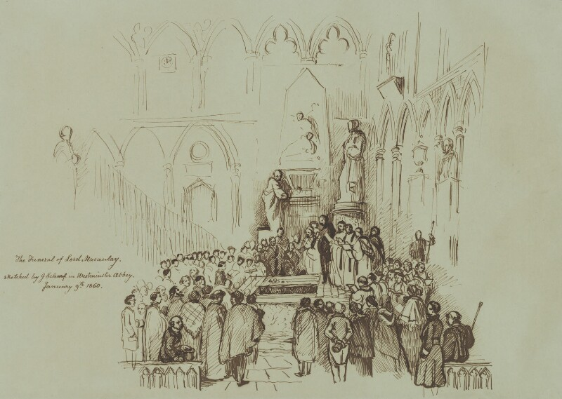 The Funeral of Thomas Babington Macaulay, Baron Macaulay, by Sir George Scharf, 1860 - NPG 2689 - © National Portrait Gallery, London