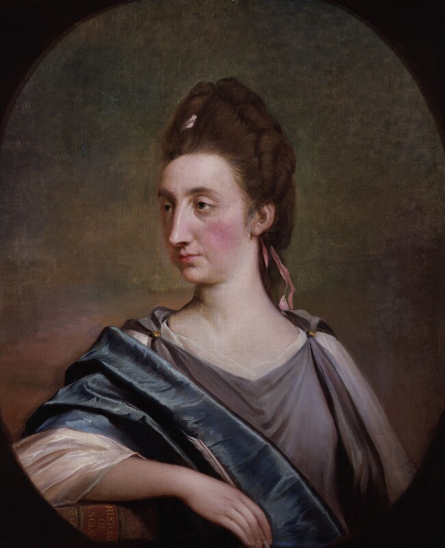 Catharine Macaulay (née Sawbridge), by Robert Edge Pine, circa 1774 - NPG 1357 - © National Portrait Gallery, London
