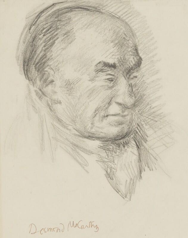 Sir Desmond MacCarthy, by Duncan Grant, circa 1938 - NPG 4468 - © DACS 2018