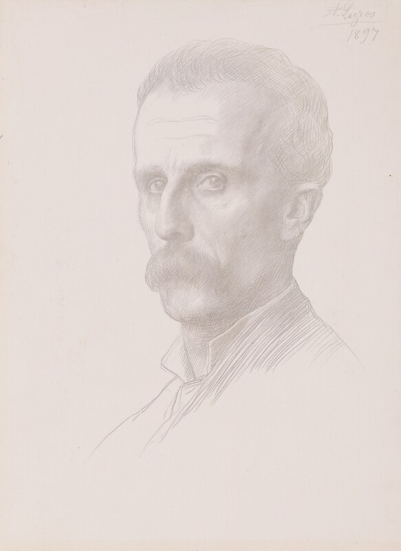 Dugald Sutherland MacColl, by Alphonse Legros, 1897 - NPG 4857 - © National Portrait Gallery, London