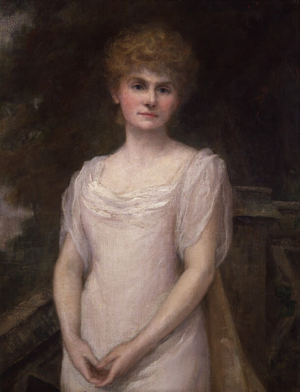 Mary Mackay ('Marie Corelli'), by Helen Donald-Smith, 1897 - NPG 4891 - © National Portrait Gallery, London