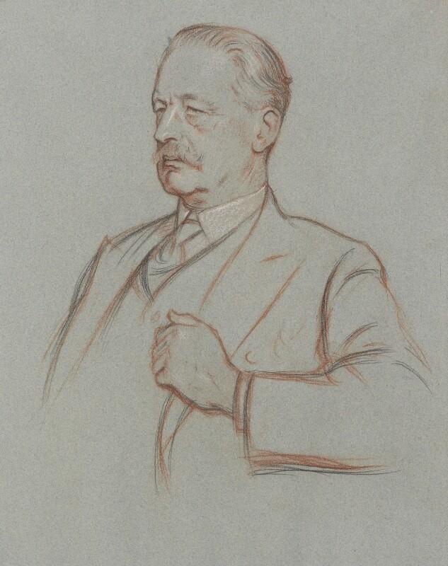 Sir Halford John Mackinder, by William Rothenstein,  - NPG 4785 - © National Portrait Gallery, London