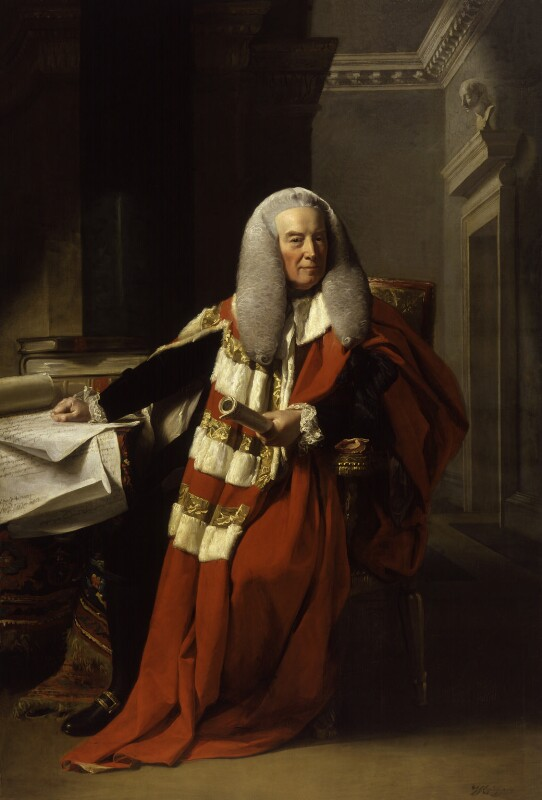 William Murray, 1st Earl of Mansfield, by John Singleton Copley, exhibited 1783 - NPG 172 - © National Portrait Gallery, London