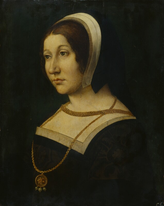 Unknown woman, formerly known as Margaret Tudor, by Unknown French artist, circa 1520 - NPG 1173 - © National Portrait Gallery, London