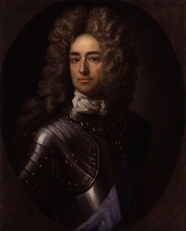 Unknown man, formerly known as John Churchill, 1st Duke of Marlborough, by Unknown artist, based on a work of circa 1704 -NPG 1858 - © National Portrait Gallery, London