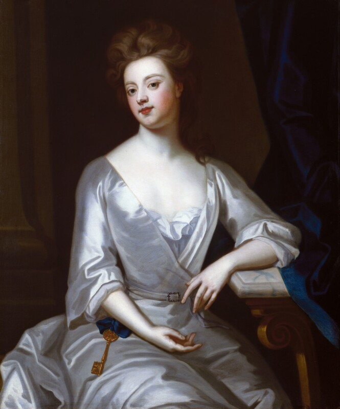 Sarah Churchill (née Jenyns (Jennings)), Duchess of Marlborough, after Sir Godfrey Kneller, Bt, circa 1702, based on a work of circa 1702 - NPG 3634 - © National Portrait Gallery, London