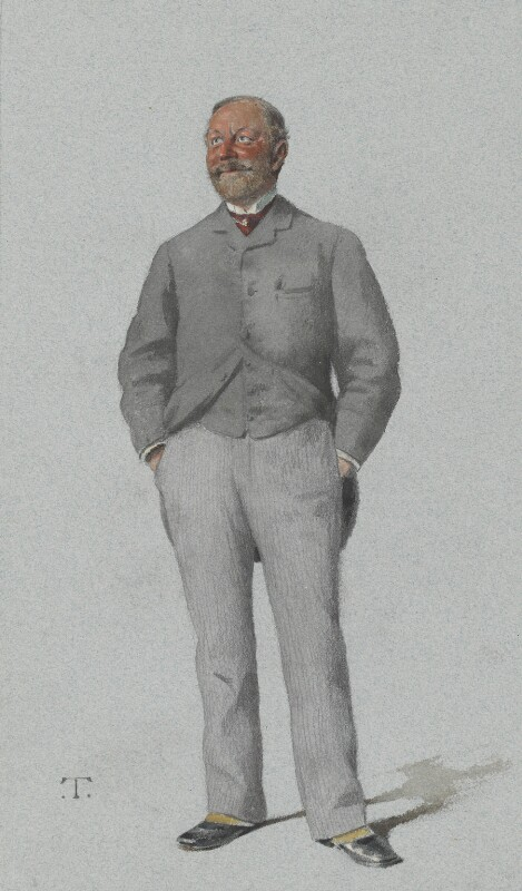 Sir William Thackeray Marriott, by Théobald Chartran ('T'), published in Vanity Fair 24 March 1883 - NPG 2586 - © National Portrait Gallery, London