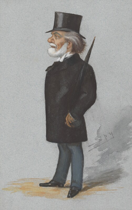 Sir Theodore Martin, by Sir Leslie Ward, published in Vanity Fair 7 July 1877 - NPG 2731 - © National Portrait Gallery, London