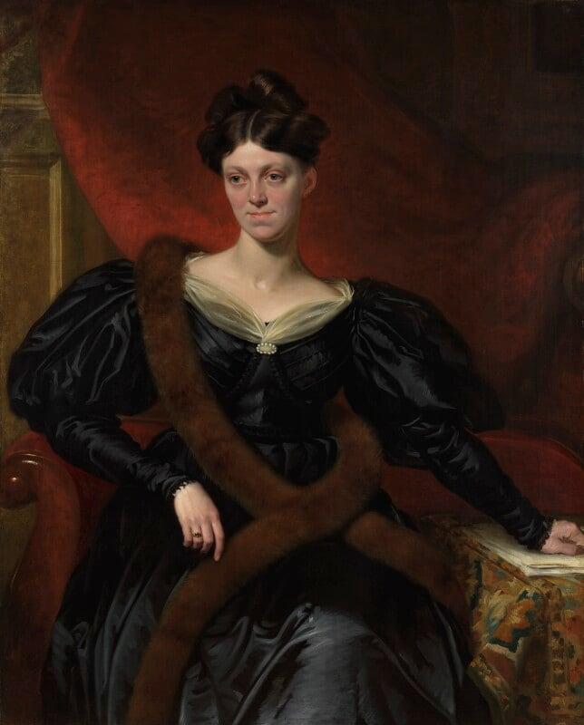 Harriet Martineau, by Richard Evans, exhibited 1834 -NPG 1085 - © National Portrait Gallery, London