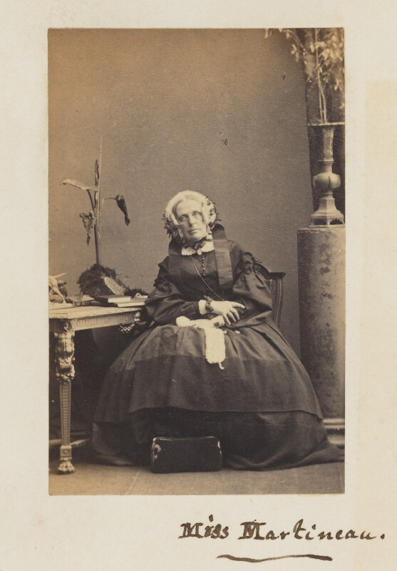 Harriet Martineau, by Camille Silvy, 1 March 1861 - NPG P33 - © National Portrait Gallery, London