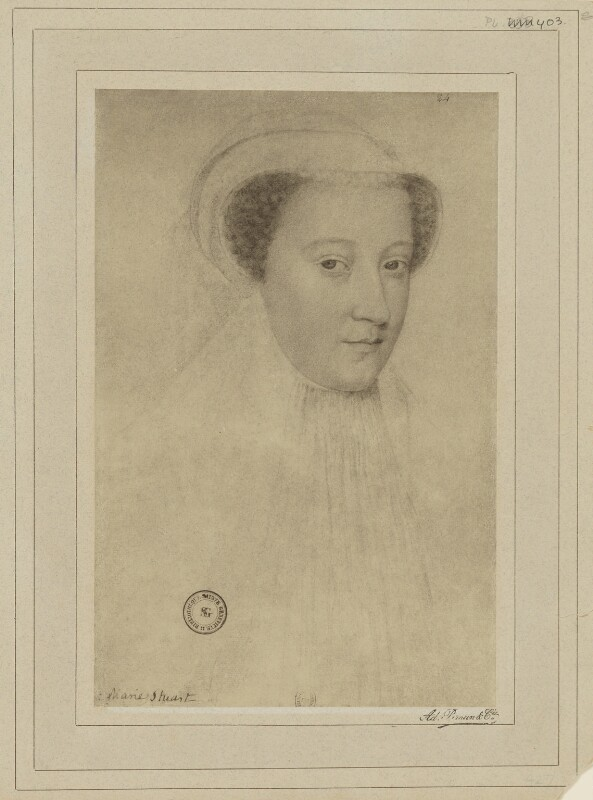 Mary, Queen of Scots, by Braun & Co (Adolphe Braun), after  François Clouet, (circa 1560) - NPG D21634 - © National Portrait Gallery, London