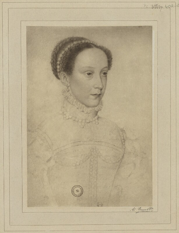 Mary, Queen of Scots, by Braun & Co (Adolphe Braun), after  François Clouet, (circa 1560) - NPG D21633 - © National Portrait Gallery, London