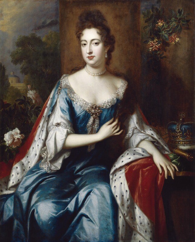Queen Mary II, attributed to Jan van der Vaart, circa 1692-1694 - NPG 197 - © National Portrait Gallery, London