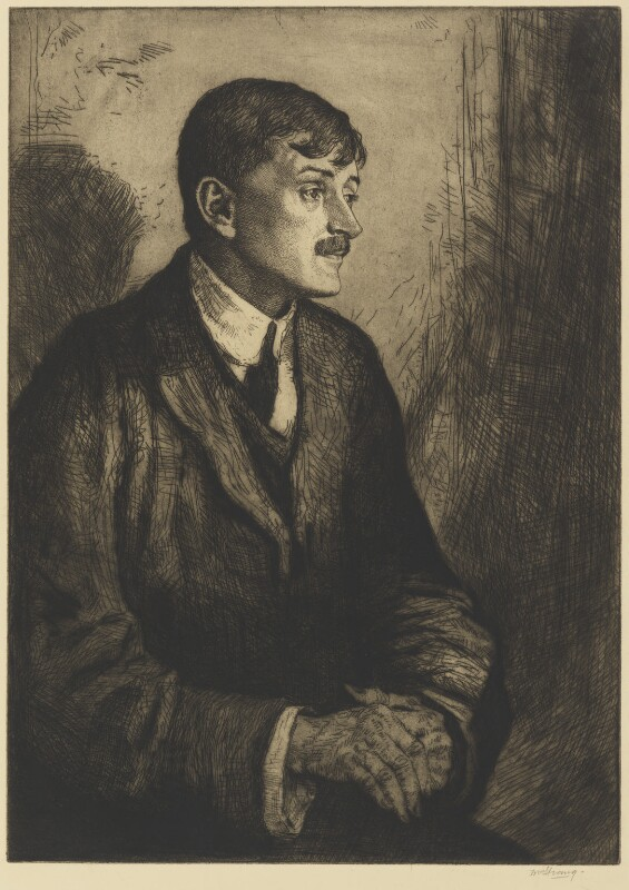 John Masefield, by William Strang, 1912 - NPG 4568 - © National Portrait Gallery, London