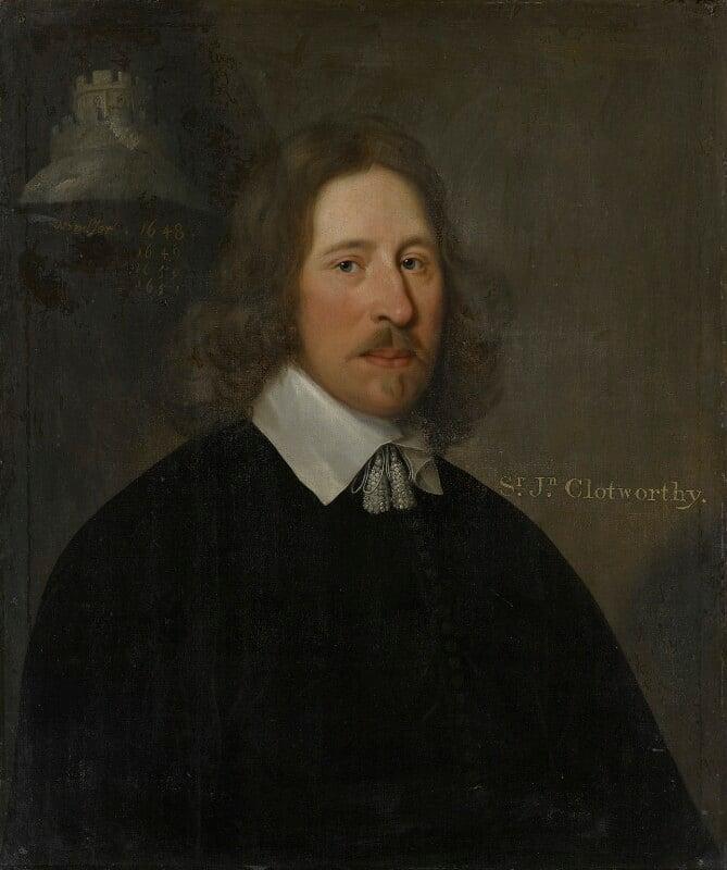 John Clotworthy, 1st Viscount Massereene, by Unknown artist, after 1648 - NPG 2110 - © National Portrait Gallery, London