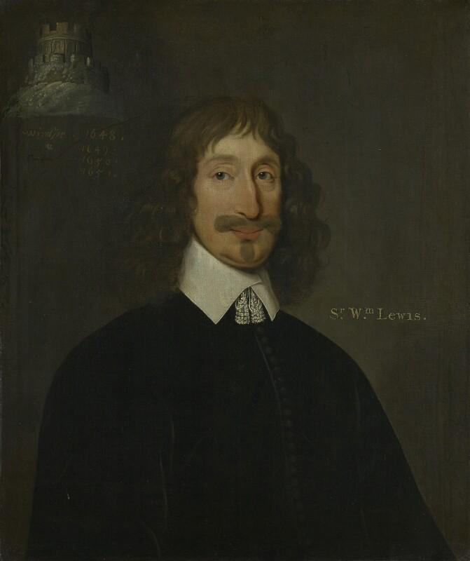 Sir William Lewis, 1st Bt, by Unknown artist, after 1648 - NPG 2107 - © National Portrait Gallery, London