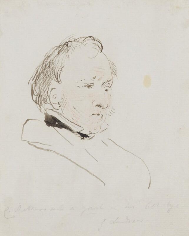 Charles Mathews, by Edwin Landseer, circa 1830 -NPG 3097(4) - © National Portrait Gallery, London