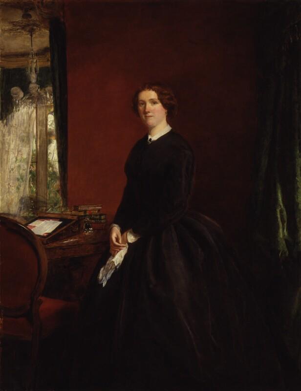 Mary Elizabeth Braddon, by William Powell Frith, exhibited 1865 - NPG 4478 - © National Portrait Gallery, London
