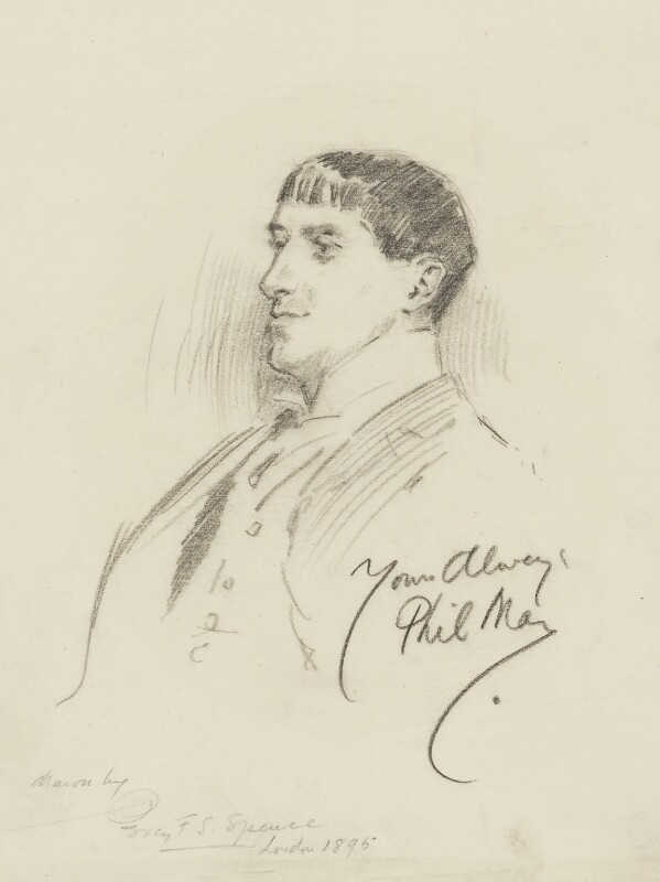 Phil May, by Percy Frederick Seaton Spence, 1895 -NPG 1184a - © National Portrait Gallery, London