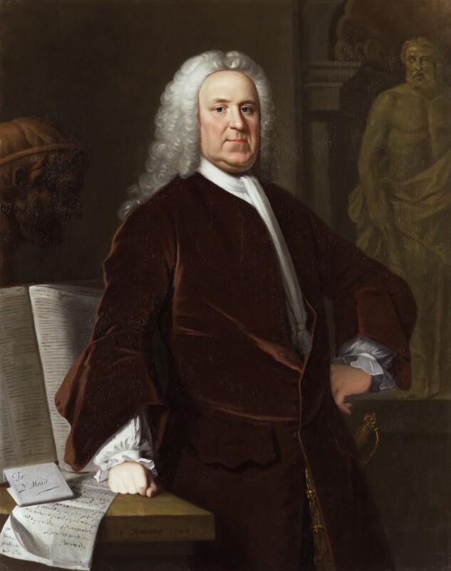 Richard Mead, by Allan Ramsay, and  studio of Allan Ramsay, 1740 - NPG 15 - © National Portrait Gallery, London