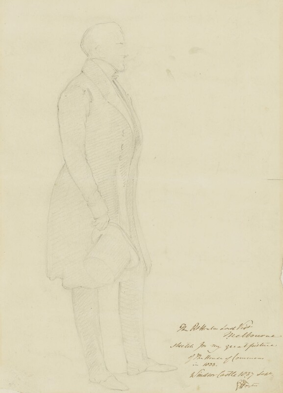 William Lamb, 2nd Viscount Melbourne, by Sir George Hayter, 1837 -NPG 4342 - © National Portrait Gallery, London