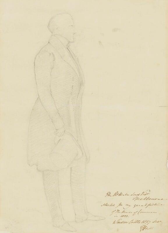 William Lamb, 2nd Viscount Melbourne, by Sir George Hayter, 1837 - NPG 4342 - © National Portrait Gallery, London
