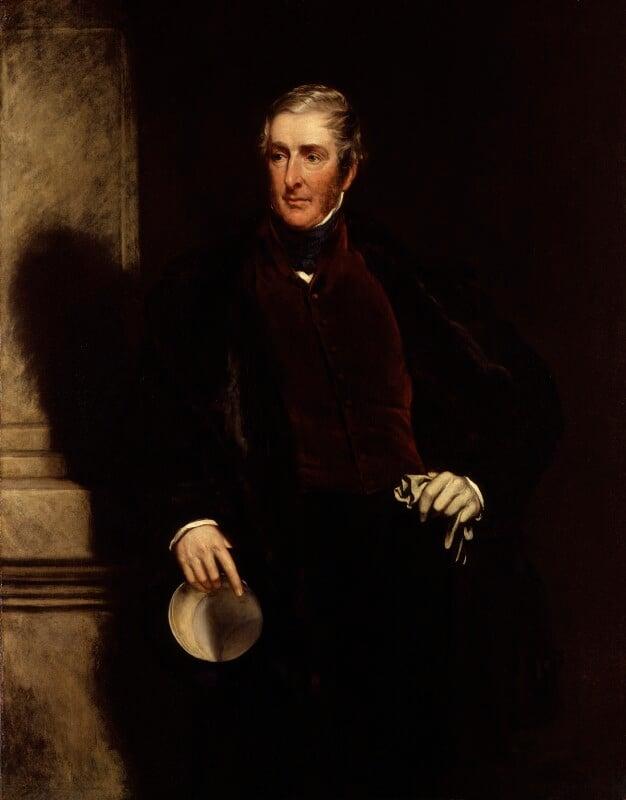 Frederick James Lamb, 3rd Viscount Melbourne, by John Partridge, 1846 - NPG 3894 - © National Portrait Gallery, London