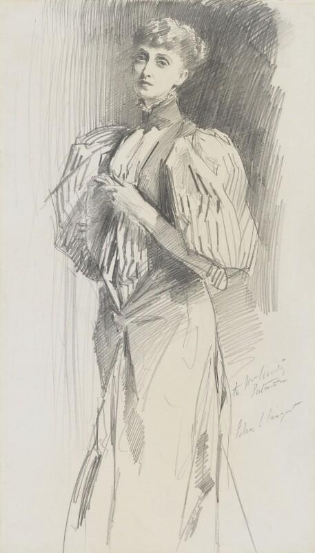 Alice Meynell (née Thompson), by John Singer Sargent, 1894 - NPG 2221 - © National Portrait Gallery, London