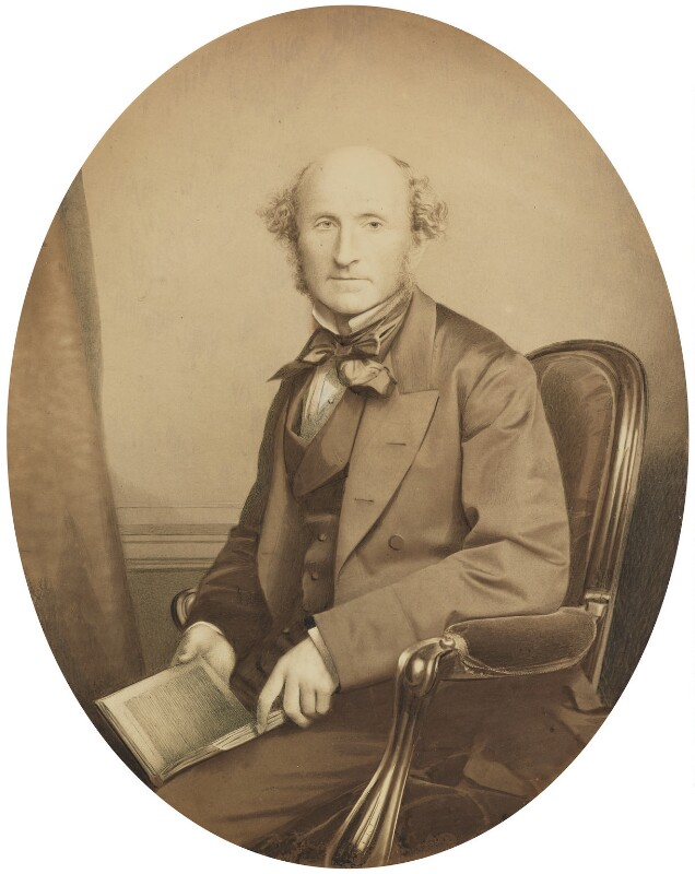 John Stuart Mill, by John & Charles Watkins, or by  John Watkins, 1865 - NPG P46 - © National Portrait Gallery, London