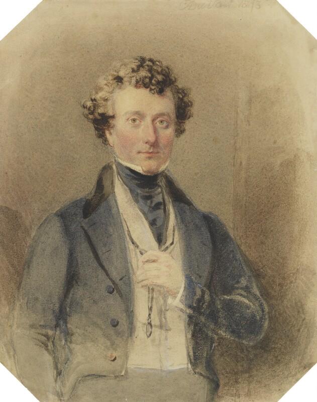 Thomas Milner Gibson, by Charles Allen Duval, 1843 - NPG 1930 - © National Portrait Gallery, London