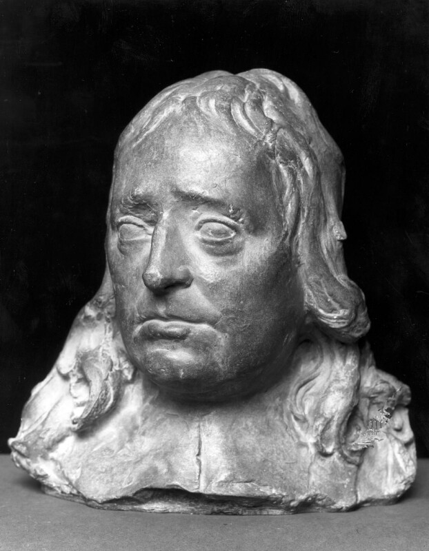 John Milton, after a bust attributed to Edward Pearce, based on a work of 1660 - NPG 2102 - © National Portrait Gallery, London