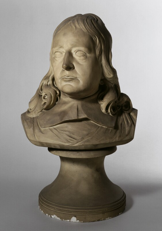 John Milton, by Horace Montford, after a bust attributed to  Edward Pearce, circa 1860-1919, based on a work of circa 1660 - NPG 1396 - © National Portrait Gallery, London