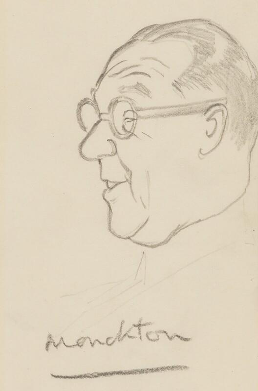 Walter Monckton, 1st Viscount Monckton, by Sir David Low, circa 1950s-1963 - NPG 4529(250) - © Solo Syndication Ltd